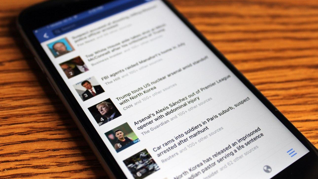 Facebook lança seção de notícias quentes em seu aplicativo mobile
